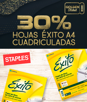 CPGS - STAPLES - GOLDEN TICKET - 30 % OFF