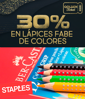 CPGS - STAPLES - GOLDEN TICKET - 30 % OFF LAPICES