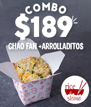 Combo $189 Chao Fan con Huevo + 1 Arrolladito