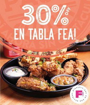 30% EN TABLA FEA IMPERDIBLE!
